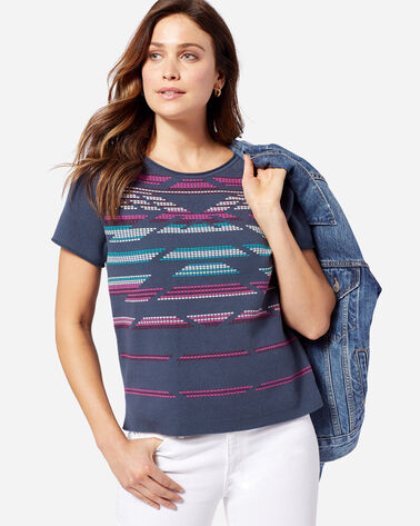 WOMEN'S HERO-GLYPHIC SWEATER, INDIGO, large