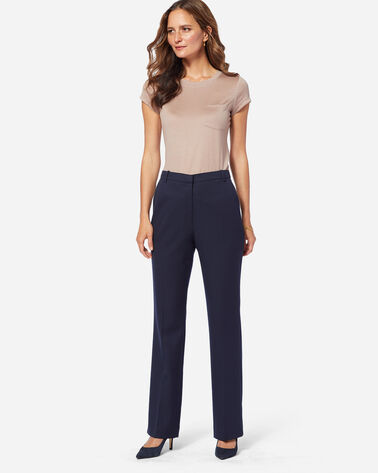 SEASONLESS WOOL LINED STRAIGHT LEG PANTS, MIDNIGHT NAVY, large