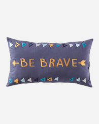BE BRAVE PILLOW, CHARCOAL, large