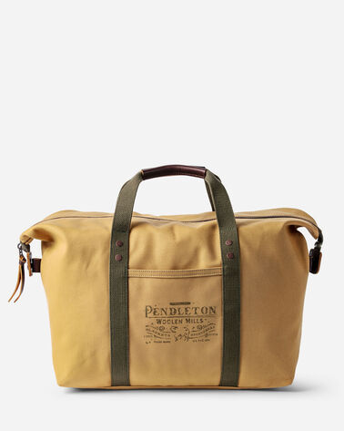 COTTON CANVAS GYM BAG IN TAN