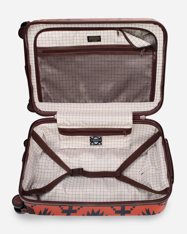 "ALTERNATE VIEW OF SPIDER ROCK 20"" SPINNER LUGGAGE IN RUST/NAVY"