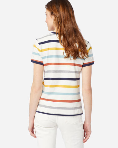 ALTERNATE VIEW OF WOMEN'S DESCHUTES RINGER TEE IN IVORY/NAVY STRIPE