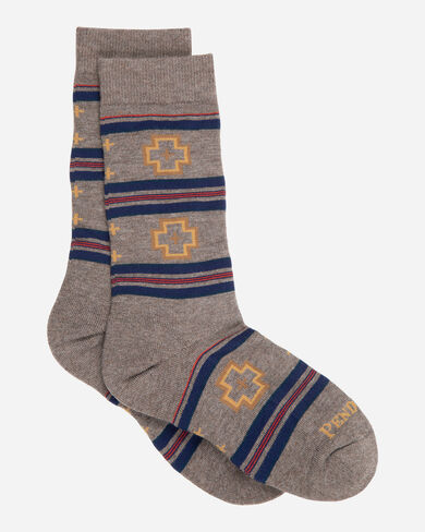 SHELTER BAY CREW SOCKS IN BROWN