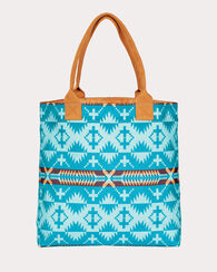 SPIDER ROCK CANVAS TOTE, AQUA, large
