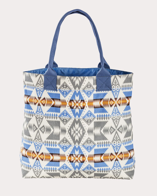 SILVER BARK COATED COTTON CANVAS TOTE