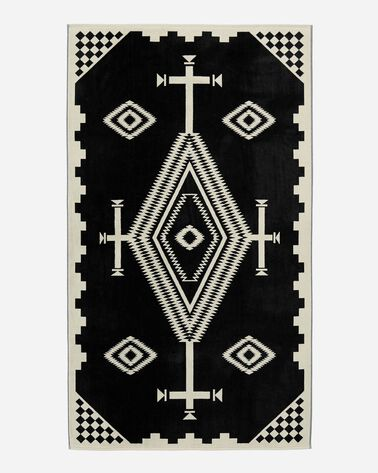 LOS OJOS SPA TOWEL, BLACK/WHITE, large