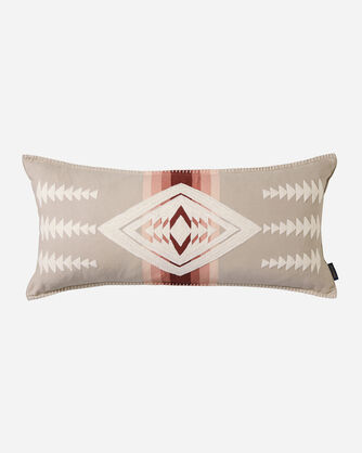 HARDING EMBROIDERED HUG PILLOW IN TAUPE