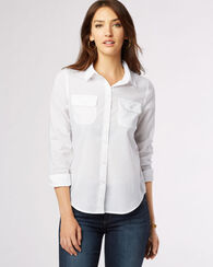 FEATHERWEIGHT SHIRT, WHITE, large