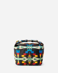 TUCSON CANOPY CANVAS COSMETIC CASE, BLACK/MULTI, large