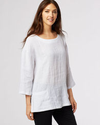LINEN TUNIC, WHITE, large