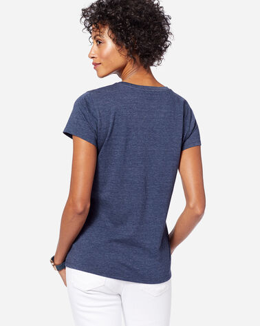 ADDITIONAL VIEW OF WOMEN'S WAVE GRAPHIC TEE IN NAVY HEATHER