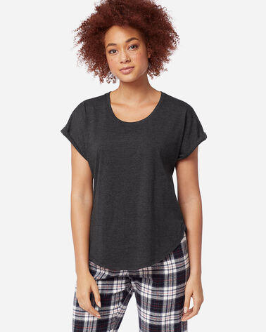 WOMEN'S SHORT-SLEEVE JERSEY TEE, CHARCOAL HEATHER, large