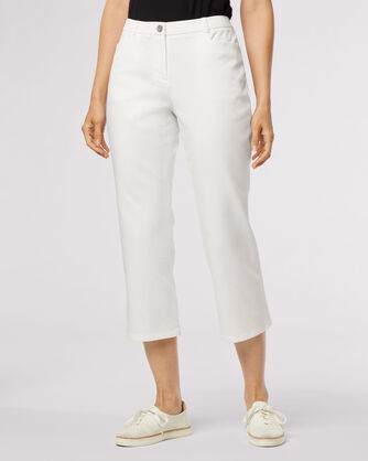 ZIA TWILL CROP PANTS