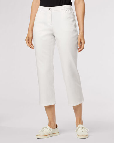 ZIA TWILL CROP PANTS, , large