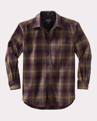 FITTED LODGE SHIRT, MAROON/BRONZE OMBRE, large
