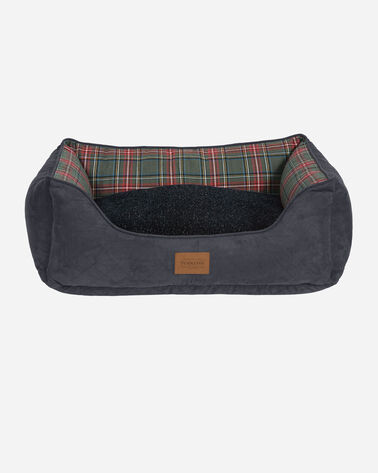 ALTERNATE VIEW OF GREY STEWART TARTAN KUDDLER DOG BED IN SIZE MEDIUM