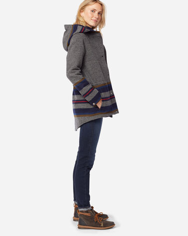 ADDITIONAL VIEW OF WOMEN'S YAKIMA STRIPE PARKA IN GREY