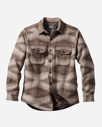 MEN'S MAGIC VALLEY QUILTED SHIRT JACKET IN BROWN