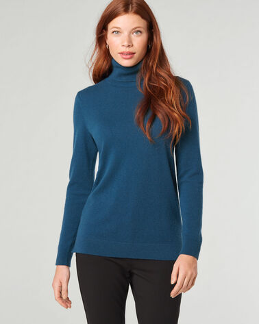 CASHMERE TURTLENECK, AEGEAN, large