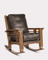 STAGECOACH LEATHER ROCKER, STAGECOACH CHOCOLATE, large