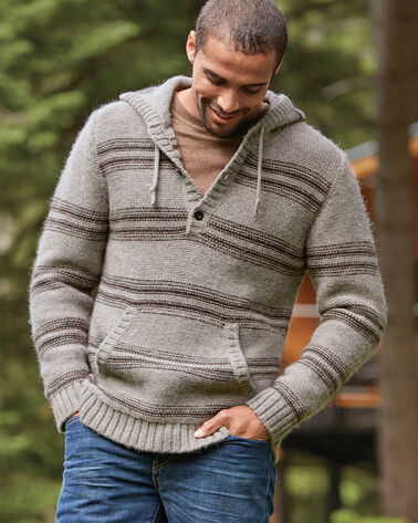 ALPACA HOODIE, NEUTRAL STRIPE, large