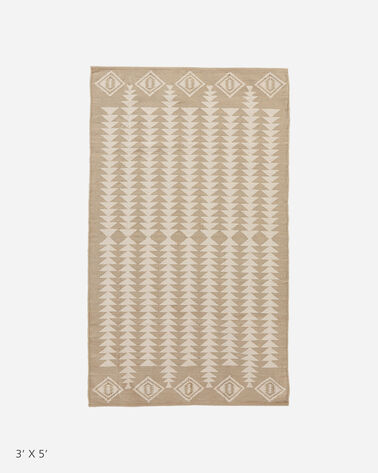 COTTON WOVEN DHURRIE RUG, HARDING, large