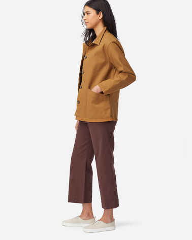 ALTERNATE VIEW OF WOMENS CANVAS CHORE JACKET IN PEANUT