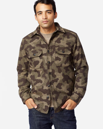 ALTERNATE VIEW OF MEN'S CAMO JACQUARD QUILTED SHIRT JACKET IN CAMO