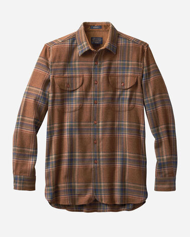 MEN'S FITTED BUCKLEY SHIRT IN RUST PLAID