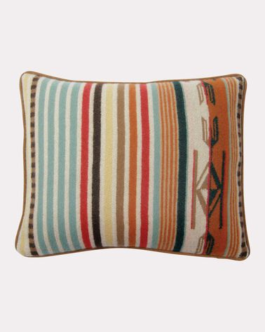 CHIMAYO TOSS PILLOW, CORAL STRIPE, large