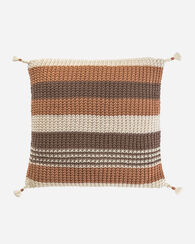 HORIZON STRIPE PILLOW, TAN MULTI, large