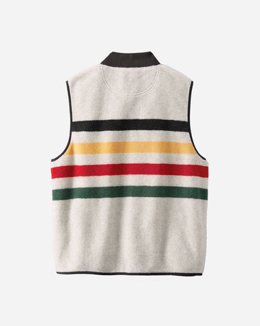 ADDITIONAL VIEW OF GLACIER PARK STRIPE FLEECE VEST IN GLACIER STRIPE IVORY
