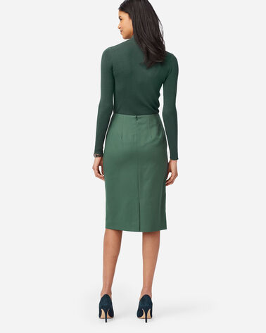 ALTERNATE VIEW OF SEASONLESS WOOL PENCIL SKIRT IN GARDEN GREEN