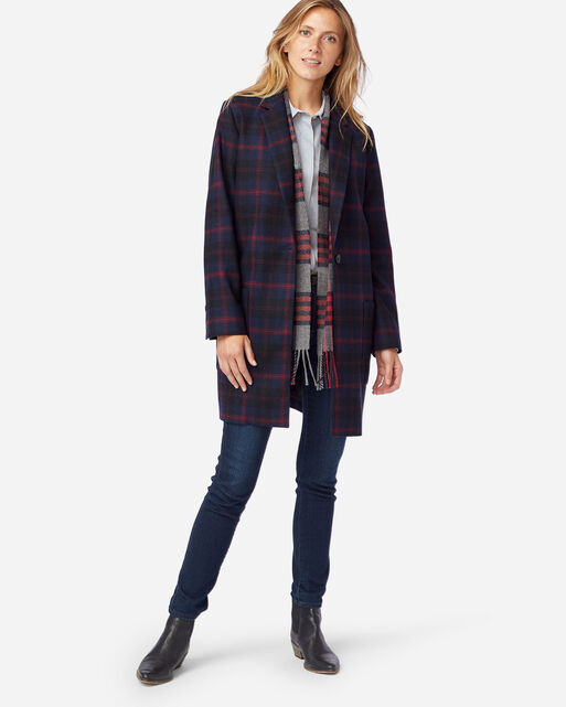 WOMEN'S HUDSON PLAID WALKER IN NAVY ANGUS TARTAN