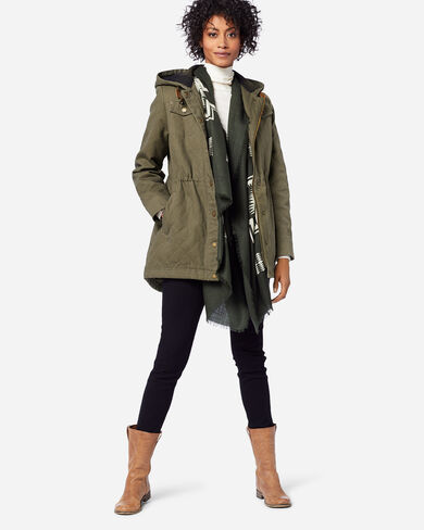 WOMEN'S SHELBY QUILTED HOODED ANORAK