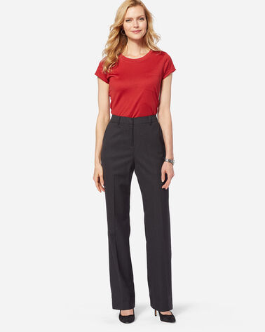 ADDITIONAL VIEW OF SEASONLESS WOOL STRAIGHT LEG PANTS IN OXFORD MIX
