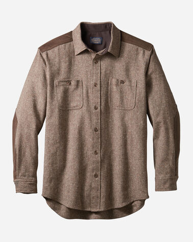 MEN'S WOOL DONEGAL OUTDOOR SHIRT IN BROWN DONEGAL