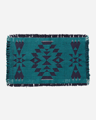 ADDITIONAL VIEW OF TUCSON BATH MAT IN TURQUOISE/NAVY