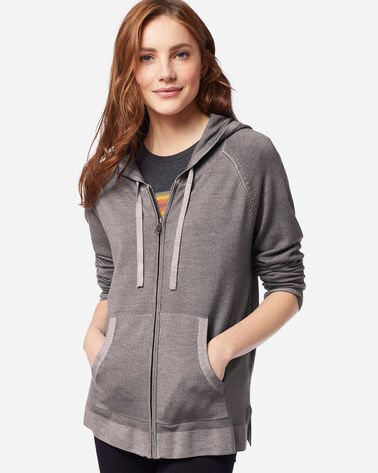ADDITIONAL VIEW OF WOMEN'S MAGIC WASH MERINO HOODIE IN GREY