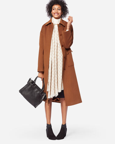 LONG WOOL COAT IN VICUNA