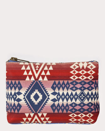 CANYONLANDS CANVAS ZIP POUCH, RED/BLUE CANYONLANDS, large