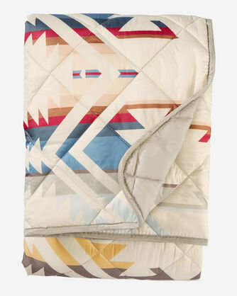 ALTERNATE VIEW OF WHITE SANDS PACKABLE THROW IN TAN
