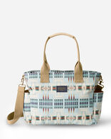 HARDING CANOPY CANVAS SUPER TOTE IN AQUA