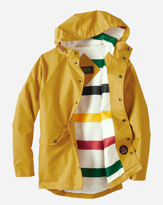 ADDITIONAL VIEW OF KIDS' LONG BEACH RAINCOAT IN YELLOW