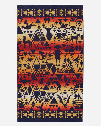 ADDITIONAL VIEW OF HARRY POTTER MAGICAL CREATURES TOWEL IN MULTI