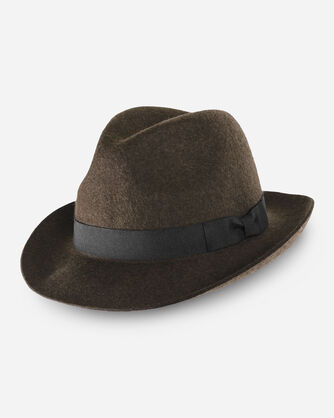 FEDORA, OLIVE MIX, large