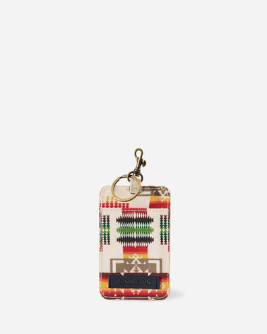 CHIEF JOSEPH CANOPY CANVAS LUGGAGE TAG IN IVORY
