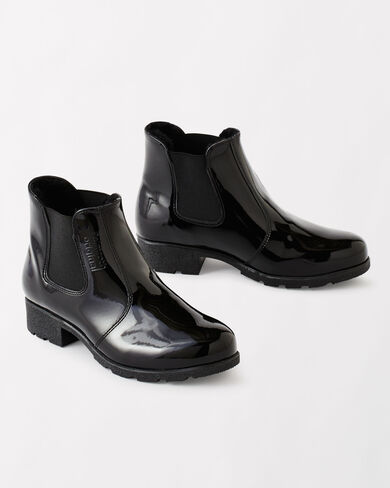 PULL-ON ANKLE RAIN BOOTS