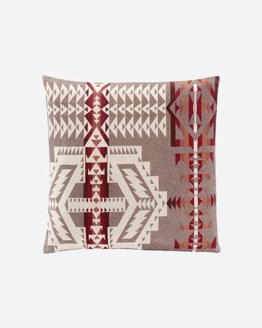 TRAIL PRINTED VELEVT PILLOW, FOSSIL MULTI, large