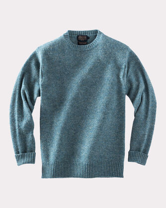 SHETLAND WASHABLE WOOL CREWNECK, SKY TEAL, large